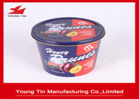 Reuseable Round Gift Tins YT1076 , Large Dried Foods Packaging Container With Lids