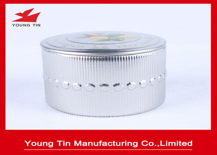 Empty Cake Holder Packaging Mini Tin Box , Metal Storage Tins With Custom Printing